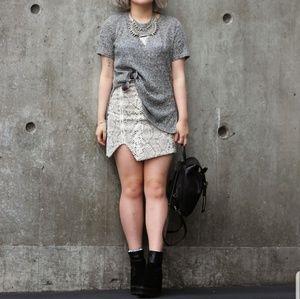 Grey T-Shirt Mini Dress
